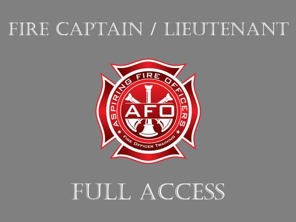 Fire Captain / Lieutenant - Full Access